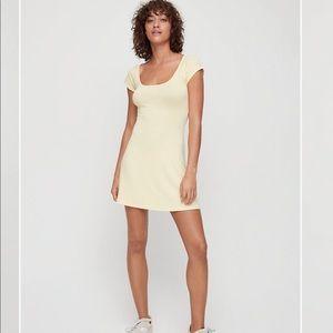 Yellow Aritzia Wilfred Free Shanda dress